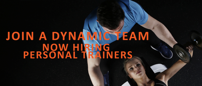 now hiring personal trainers