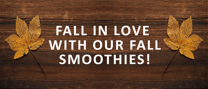 fall in love with fall smoothies